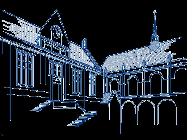 Chapel Quad Line Drawing