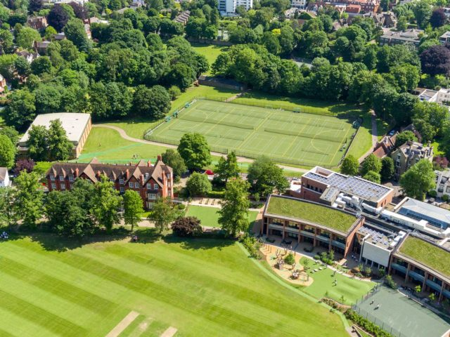 Highgate school aerial view of grounds