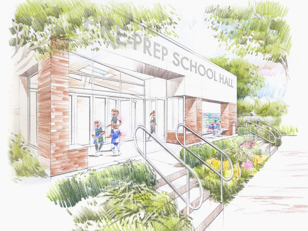 Pre-Prep View of front entrance