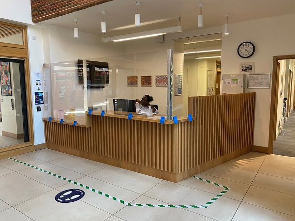Junior School safety barriers for COVID-19