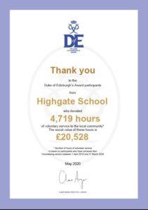 Duke of Edinburgh Award Highgate School
