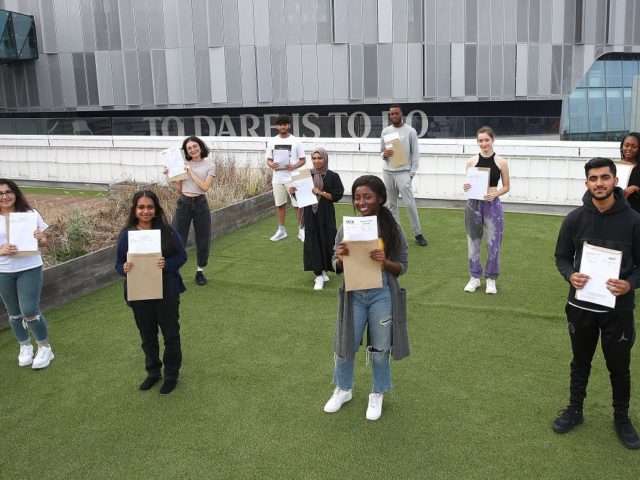 Socially distanced results day 2020 London Academy of Excellence Tottenham