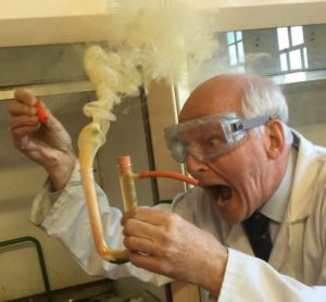Dr Szydlo - Chemistry Experiment with billowing smoke