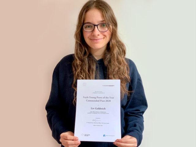 National Commendation for Pupil Poet Liv!