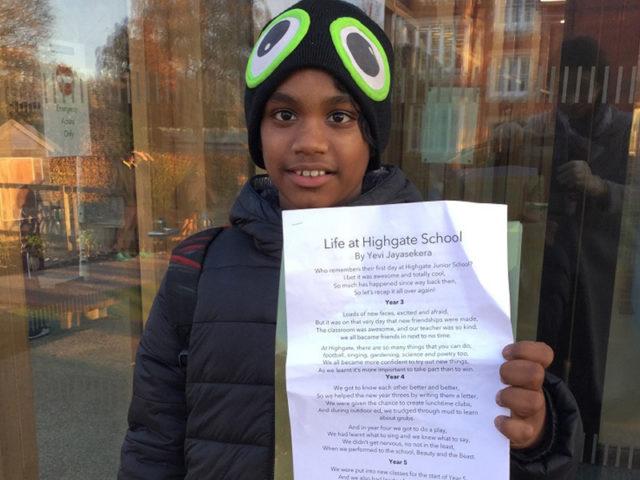 Poetry at Highgate Junior School